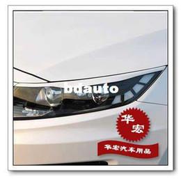 Wholesale Kia K5 Carbon - Wholesale-Free shipping 2011-2012 KIA optima(KIA K5) headlights sticker,Light brow paster,decals,carbon fiber cover,auto products parts,