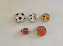 Wholesale Football Floats - Floating Charms For Living Memory Lockets Sports - Soccer Ball, Baseball, Softball, Football, Basketball