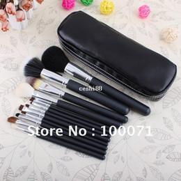 Wholesale Makeup Cosmetics Kit Set - New 12 Pcs Professional Makeup Brushes Cosmetic Make Up Set W  2 Case Bag Kit #22634