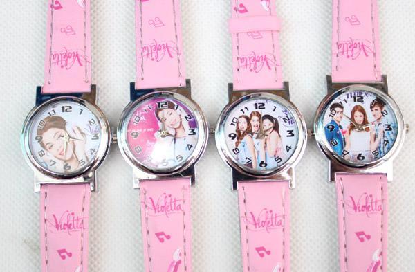 2014 new violetta frozen Cute Cartoon Child Quartz Wrist Watch/Clock with One Purse/Wallet/ for Boys&Girls, Kids Birthday Gift