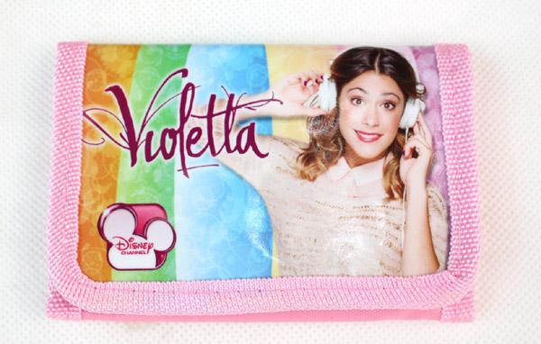 Großverkauf Karikatur Violetta Girls Beutel Handtaschenmappe Geldbeutel 1 freies Verschiffen des Reißverschlusses