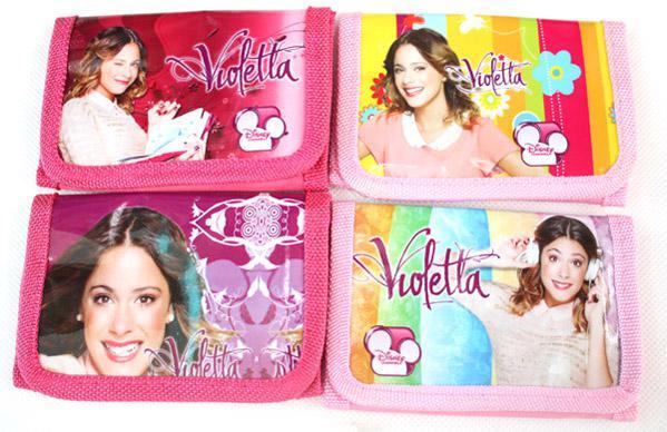 Großverkauf 24pcs Karikatur Violetta Girls Beutel Handtaschenmappe Geldbeutel 1 freies Verschiffen des Reißverschlusses