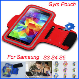 Wholesale Red Band Clips - Sport Running Armband Leather Belt Clip Case Waterproof Arm Band for Samsung Galaxy S3 S4 S5 i9300 i9500 i9600 Gym Pouch Free Shipping 20pcs