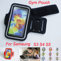 Wholesale galaxy siii cases - Sport Running Armband Leather Belt Clip Case Waterproof Arm Band for Samsung Galaxy S3 SIII i9300 S4 i9500 S5 i9600 Gym Pouch