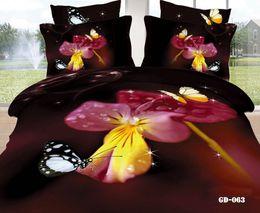 Wholesale Cheap Flat Cotton Sheets - Cheap Comforter Sets 3D Bedding Set 100% Cotton Fabric Duvet Cases Pillow Covers Flat Bed Sheet 4 Pcs Wedding Supplies New Arrival