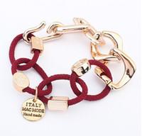 eingewickelte kette großhandel-2014 neue Mode Kette Leder Wickelarmband für Frauen Armbänder Armreifen Skull Schmuck S903968