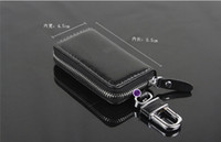 Wholesale Sample Wallet - Free shipping Auto Key Wallet Cover Shell Keyrings Key Holders Key Bags Keychain Genuine Leather Car Accessories sample order