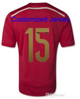 Wholesale Cheap Shopping - Thai Quality Spain Soccer Jersey World Cup 2014 Cheap Online Shop,Spain 2014 Ramos Home Red Soccer Jersey ,14 15 Spain Soccer Jerseys