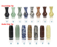 2014 Date Naturel Jade Bullet Drip Tip 510 EGO Gourd Drip Tip 510 EGO Atomizer Embouchures Pour CE4 EGO T EGO W Vivi Nova EVOD Clearomizer
