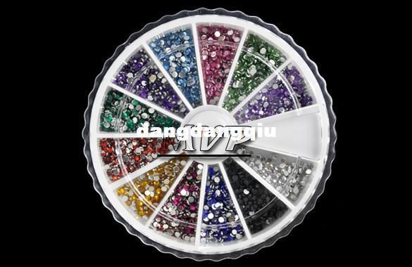 Wholesale-1MM Nail Art rhinestones Decoration For UV Gel Acrylic Systems 4056 F
