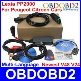 Wholesale Lexia Diagnostic - A+++Quality 2014 Newest Citroen Peugeot Diagnostic Tool PP2000 With V7.16 Diagbox Lexia V24 V48 V47.99 Psa XS Evolution CNP Free
