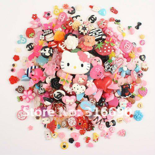 Wholesale-free shipping mixed resin gift bag plane decorate mobile phone 100pcs/lot