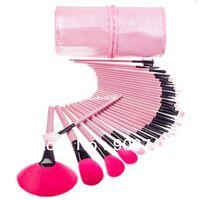 pro rosa make-up pinsel set großhandel-Pro PINK Make-up Kosmetikpinsel-Set 32-tlg. Make-up Pinsel Kosmetikpinsel-Set