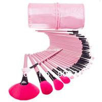 Wholesale Makeup Brushes 32 Set Pro - Pro PINK Makeup Cosmetic Brush Kit 32 pcs Makeup Brush Cosmetic tools Kit