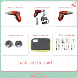 Wholesale Klom Cordless Electric Pick Gun - 2015 locksmith tool Electro pick Gun New Cordless Electric Pick Gun klom easy for work Free Shipping