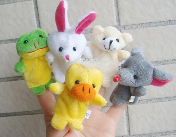 Büyük indirim! Express Parmak Kuklaları Peluş Oyuncak Konuşurken Sahne 10 Farklı Hayvanlar Set Oyuncaklar Bebek Çocuk Için