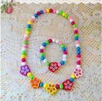 Wholesale Head Hair Necklaces - Baby necklace bracelet set cartoon fruit necklace children candy color hair The girl's head ornaments accessories