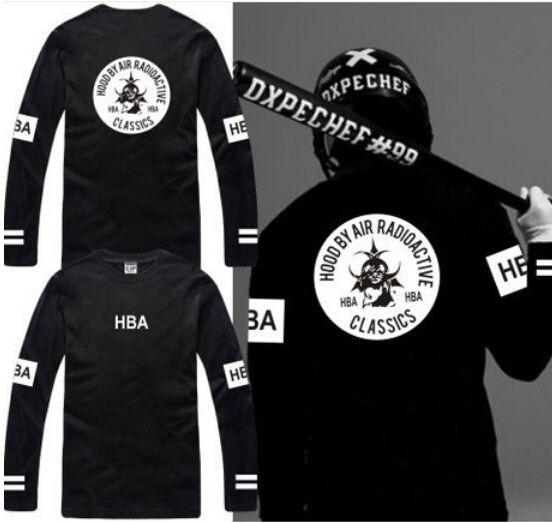 New Sale Long Sleeve T Shirt Hood By Air Radioactive Hba T Shirt ...