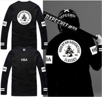 Wholesale Hood Air T Shirt - Free shipping new sale long sleeve t shirt Hood By Air RADIOACTIVE HBA t shirt Hba Classics tee shirt 6 color 100% cotton