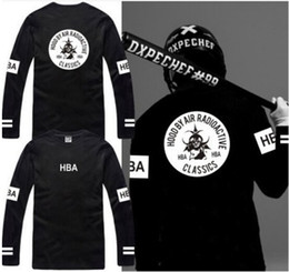 Wholesale Hba Red T Shirt - Free shipping new sale long sleeve t shirt Hood By Air RADIOACTIVE HBA t shirt Hba Classics tee shirt 6 color 100% cotton