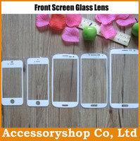 Wholesale S3 Mini Front Cover - 1:1 Replacement Touch Panel Cover Front Panel Glass Len For iPhone 4S 5 5S 5C Galaxy S3 S4 Mini S5 Note3 100pcs