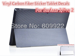 Wholesale Decals For Tablets - Vinyl Carbon Fiber Sticker back Guard Tablet Decals For Microsoft Surface Pro   Surface Pro 2 Free Shipping VIA 100pcs lot