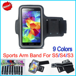 Wholesale Sport Gym Running Armband Protector - Stylish WaterProof Sport Gym Running Armband Protector Soft Pouch Case Cover for Samsung Galaxy S5 i9600 S4 i9500 S3 i9300 Arm band 9 Colors