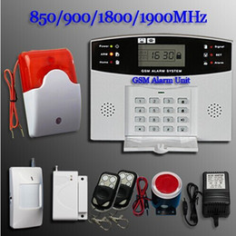 Wholesale Wireless Home Alarm Systems Kit - GSM SMS Home Burglar Security Alarm System Detector Sensor Kit Remote Control
