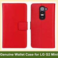 carteira para lg g2 venda por atacado-Wholesale New Genuine Leather Wallet Case Capa Flip para LG G2 Mini D620 com função de dobramento frete grátis