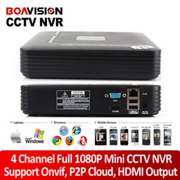 Wholesale 4ch Hd Video Recorder - New 1080p smart mini 4CH NVR Support Realtime Video,Playback+HD IP Camera Network Video Recorder with 1080P HDMI onvif system