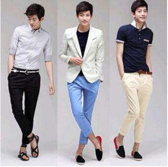 2017 Korean Style Capris Pants Man Haroun Pants Pants Slim Fit ...