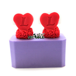Wholesale Soap Molds Heart Shape - Nicole silicone candle mold heart shape letter soap mold handmade craft molds candy mold fondant mold silicon mold R1291