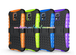 Wholesale S4 Mini Gel Case - Shockproof Hybrid Armour Heavy Rubber TPU Gel case cover Hard Plastic Kickstand Stand cases For Samsung Galaxy S5 I9600 S5 MINI S4 200PCS