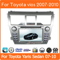 2din car dvd gps player stereo stereo для Toyota vios 2007 2008 2009 2010 20112013 седан yaris, радио RDS, телевизор, Bluetooth, бесплатная карта, бесплатная доставка