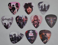 Beaucoup de 20 Pcs Motley Crue Moyen 0.71mm 2 côtés Impression Guitare Médiators Plectrums
