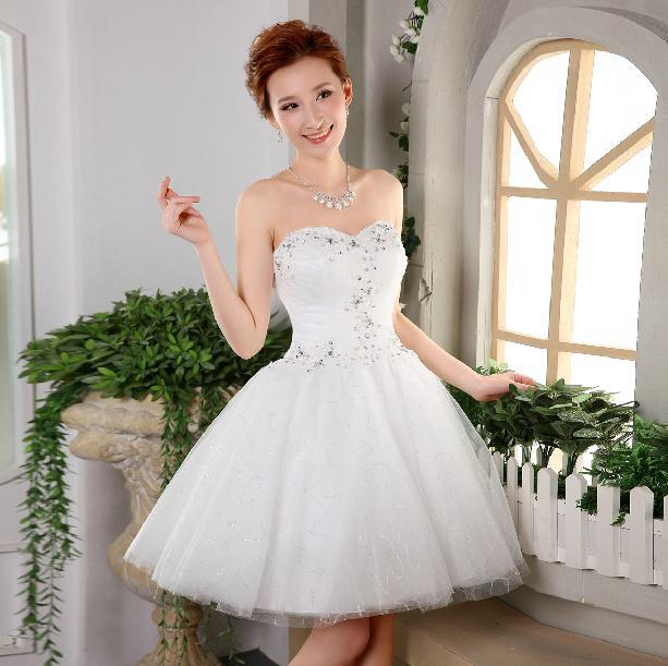 Fashionable short wedding dress 2014 sexy tube top white lace fashionable short wedding dress 2014 sexy tube top white lace wedding dresses vestido de noiva bridal gown princess bride dress w11 bride dresses engagement junglespirit Choice Image