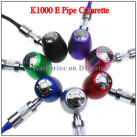 E Pipe K1000 Mechanical Mod Kit K1000 E Pipe Electronic Cigarette E Cigarette 18350 Battery en Cremallera Case Huge Vapor Todos los colores Instock