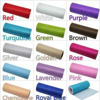 """Wholesale Candle Decorating Crafts - One Pcs GLITTER TULLE Roll 6""""x10Y Tutu Wedding Gift Bow Craft Bridal Decorating 14 color"""