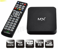 dual core jelly bean al por mayor-NUEVO XBMC instalado MX2 Android 4.2 OS Jelly Bean TV Caja Dual Core MX Media Player Amlogic 8726 Cortex A9 M6 MX1 MKV Juegos de película 3D 1080P