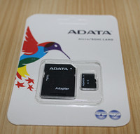 Wholesale 128g Memory Cards - ADATA 128GB 128G Micro SD SDHC Memory Card SD Adapter Blister Package Class 10 TF Card for Android Smart Phones Tablet PCs NetBooks DHL Free
