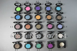 Wholesale Eyeshadow Palette 24 - 24pcs lot High quality brand makeup Single eye shadow Palette 24 different color eyeshadow pigments free shipping