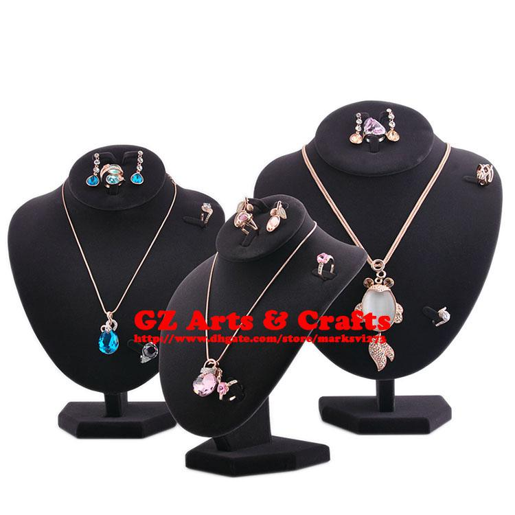 Necklace Display Stand Mannequin Necklace Earring Ring Holder