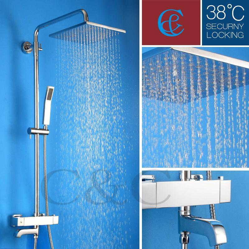 With Wall Mounted Termostatic Shower Faucet Valve 10 Air Drop Square ...