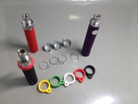 ce4 yüzük toptan satış-EGo Serisi Elektronik Sigara için Silikon ve Metal Halka eGo Kolye Dize Yüzük eGo-CE4 CE5 CE6 Ego paslanmaz çelik İpi Yüzük