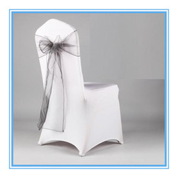 Wholesale Christmas Chair Sashes - Orangza Wedding Chair Cover Sash For Wedding Chair Decoration Pink Red Bands For Christmas Party Decoration