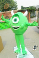Wholesale Green Carnival Costumes For Sale - MIKE MONSTER INC SULLY Mascot Costume, Advertising Costume,Cartoon Costume for sale Animal carnival