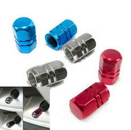 Wholesale Best Car Tires - Best price aluminum air valve cover cap red for tire stem wheel rim tyre all car universal 1000pcs