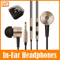 Wholesale Pink Gold Value - 5PCS Xiaomi Piston In Ear Headphone Earphones With Mic Best Rated Best Value Headset Noise Reduction Earphone For iPhone Sumsung Htc PC MP3