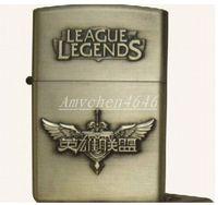 Wholesale Lol Lighter - LOL League games and creative crafts metal embossed Wind kerosene lighter
