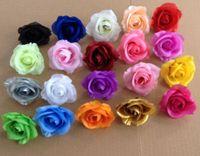 Wholesale Best Silk Fabrics Wholesale - Best Selling 50pcs Diameter 7-8cm Artificial Flowers Silk Camellia Rose Fabric Camellia Flower Heads 20 colors Available U Choose Colors